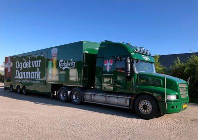 Bilindpakning af truck til Carlsberg