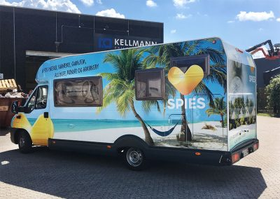 Indpakning af mobile home for Spise