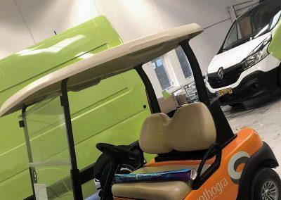 Folieindpakning af Golfvogn